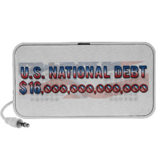 Deuda nacional $ 16 de los E.E.U.U. trillón dólare Laptop Altavoz