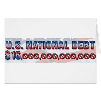 Deuda nacional $ 16 de los E.E.U.U. trillón dólare Felicitacion