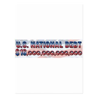 Deuda nacional $ 16 de los E.E.U.U. trillón Postal
