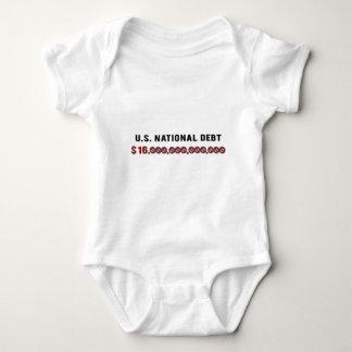 Deuda nacional de los E.E.U.U. Body Para Bebé