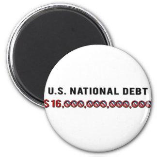 Deuda nacional de los E.E.U.U. Imán Redondo 5 Cm