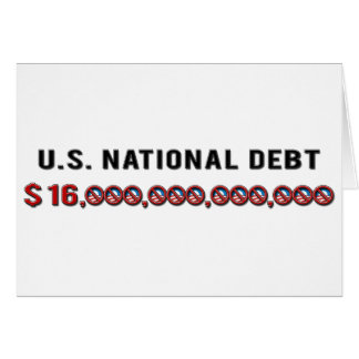 Deuda nacional de los E.E.U.U. Tarjetas