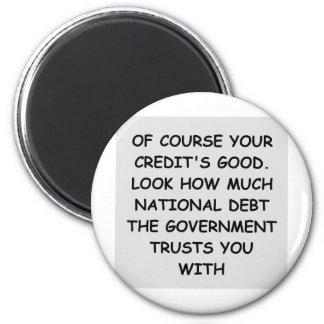 deuda nacional imán redondo 5 cm