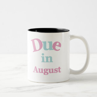 Deuda rosada en agosto tazas de café