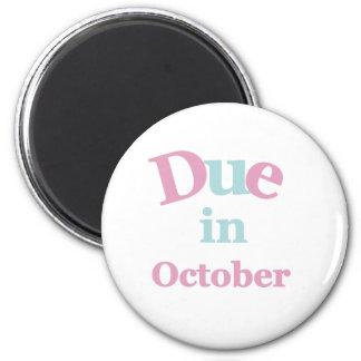 Deuda rosada en octubre imán redondo 5 cm