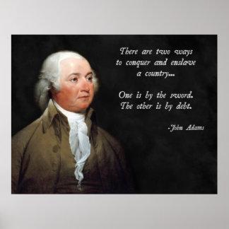 Deuda y espada de John Adams Poster