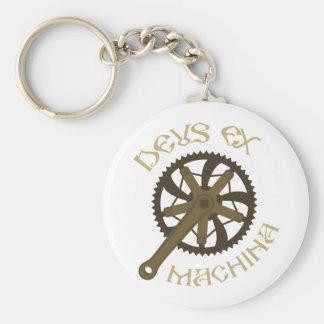 Deus ex machina basic round button keychain