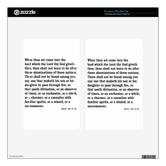 Deut. 18: 9-12 decals for kindle fire