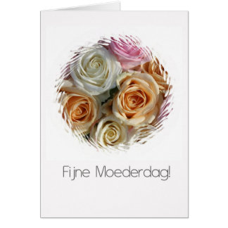 DEutch mother's day pastel roses Greeting Card