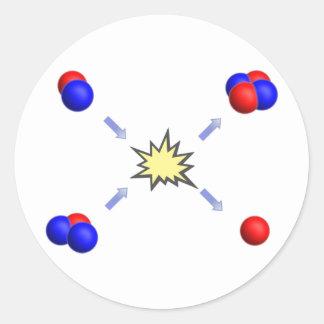 Deuterium-Tritium fusion Classic Round Sticker