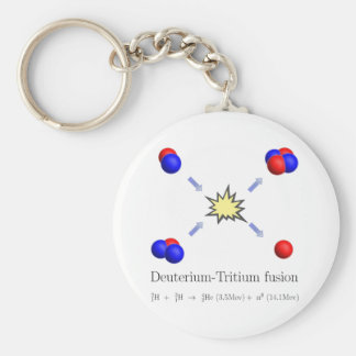 Deuterium-Tritium fusion with equation Keychain