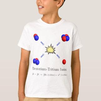 Deuterium-Tritium fusion with equation T-Shirt