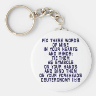 Deuteronomy 11:18 keychain