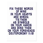 Deuteronomy 11:18 postcard