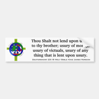 Deuteronomy 23:19 Holy Bible King James Version Bumper Sticker