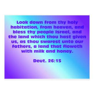 Deuteronomy 26:15 custom flyer