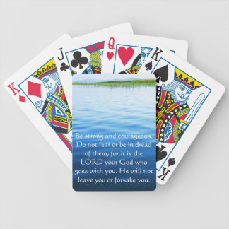 Deuteronomy 31:6 Bible Verses about courage Bicycle Playing Cards