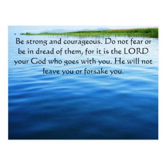 Deuteronomy 31:6 Bible Verses about courage Postcard