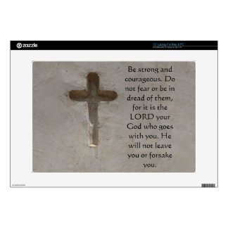 Deuteronomy 31:6 Bible Verses about courage Decal For Laptop