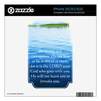 Deuteronomy 31:6 Bible Verses about courage Decal For iPhone 3