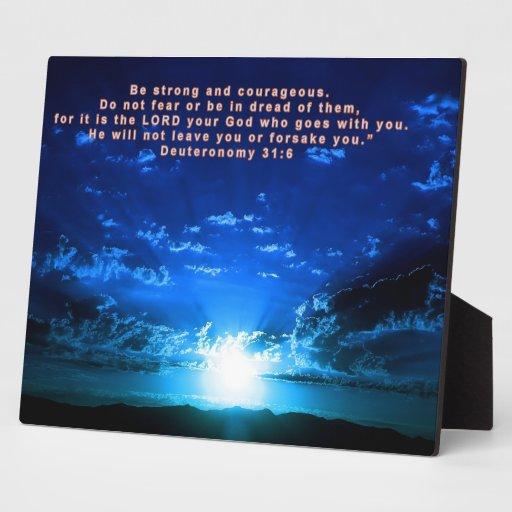 Deuteronomy 31:6 display plaques