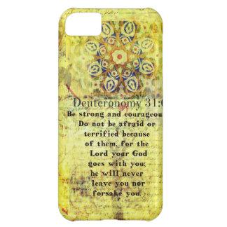 Deuteronomy 31:6 Uplifting Bible Verse iPhone 5C Cases