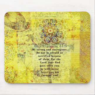 Deuteronomy 31:6 Uplifting Bible Verse Mouse Pad