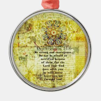 Deuteronomy 31 6 Uplifting Bible Verse Christmas Tree Ornament