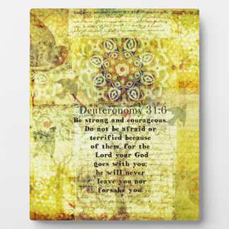 Deuteronomy 31:6 Uplifting Bible Verse Plaque