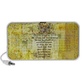 Deuteronomy 31:6 Uplifting Bible Verse Notebook Speaker