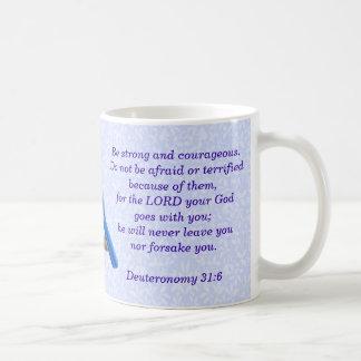 Deuteronomy 31:6 Wren Bible Verse Mug