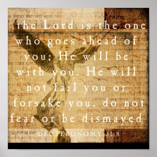 Deuteronomy 31:8 poster