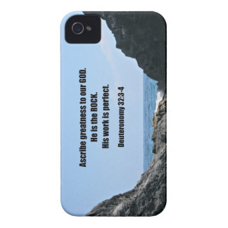 Deuteronomy 32:3-4 Ascribe greatness to our God... iPhone 4 Covers