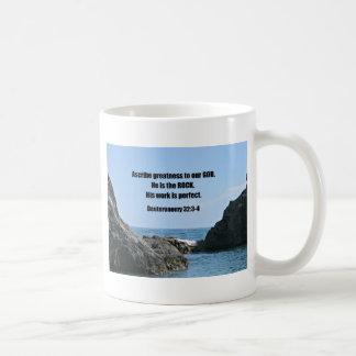 Deuteronomy 32:3-4 Ascribe greatness to our God... Coffee Mug