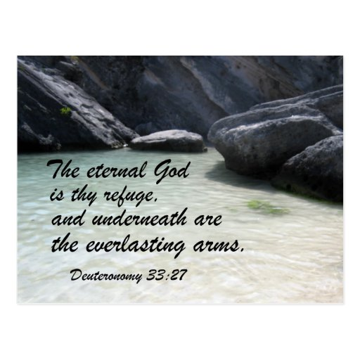 Deuteronomy 33:27 postcard