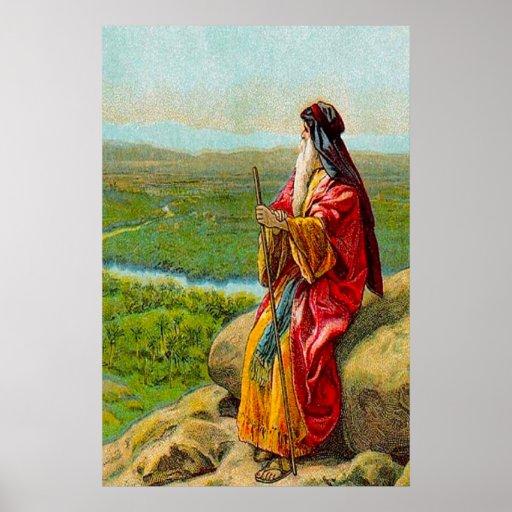 Deuteronomy 34 la muerte del poster de Moses