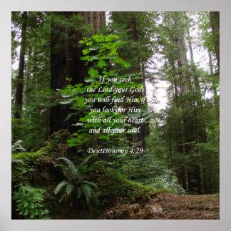 Deuteronomy 4:29 ~ Seek the Lord Poster