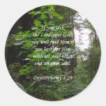 Deuteronomy 4:29 ~ Seek the Lord Stickers