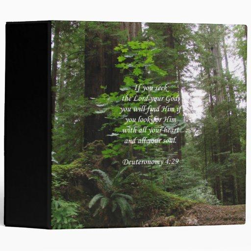 Deuteronomy 4:29 ~ Seek the Lord Vinyl Binders