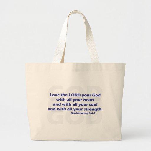 Deuteronomy 6:4-6 canvas bags