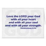 Deuteronomy 6:4-6 cards
