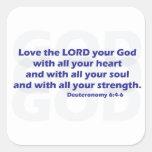 Deuteronomy 6:4-6 sticker