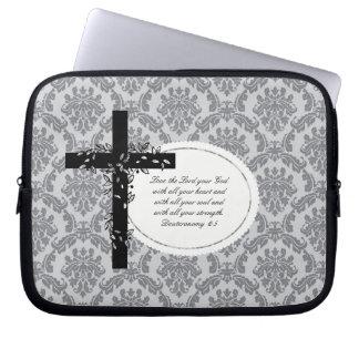Deuteronomy 6:5 Laptop/Netbook Carrier Sleeve Laptop Computer Sleeves
