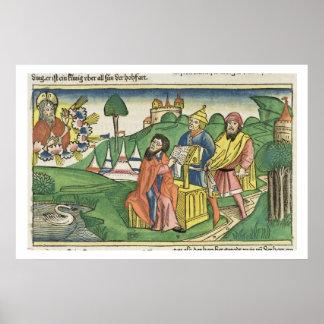 Deuteronomy: Frontispiece en el cual dios hace el  Poster