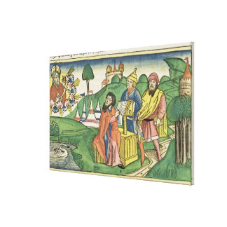 Deuteronomy: Frontispiece in which God makes the L Canvas Print