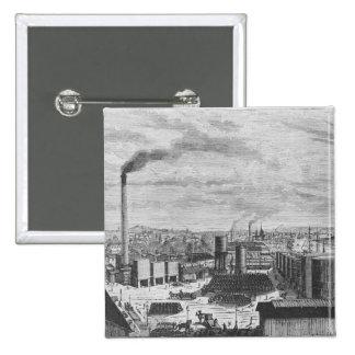 Deutsch Company, la fábrica en Ruán Pin Cuadrada 5 Cm