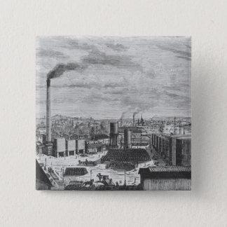 Deutsch Company, the factory at Rouen Pinback Button