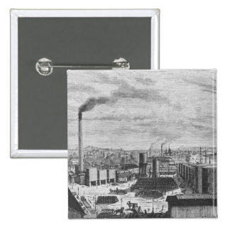 Deutsch Company, the factory at Rouen Pinback Button