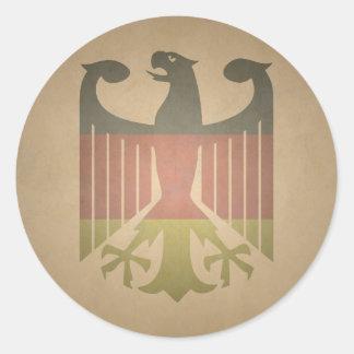 Deutsch-Eagle Classic Round Sticker