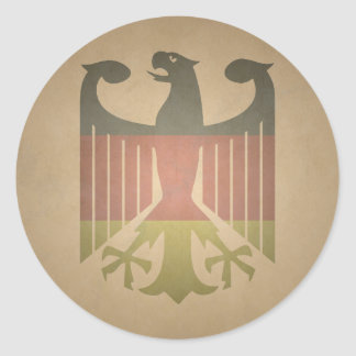 Deutsch-Eagle Pegatina Redonda